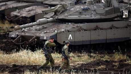 As forças israelenses ocuparam as Colinas de Golã