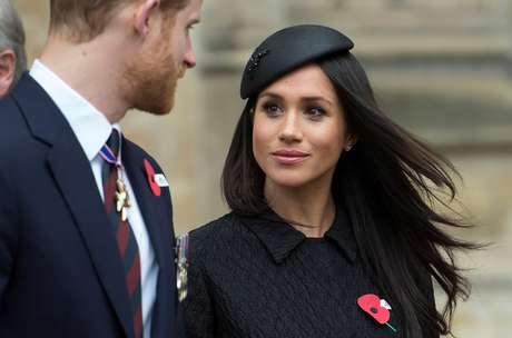 Príncipe Harry e Meghan Markle 25/04/2018 Eddie Mulholland/Pool via Reuters