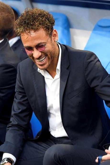 Neymar sorri em jogo do PSG contra o Les Herbiers  8/5/2018     REUTERS/Stringer