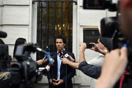 Rodrigo Lasmar concedeu entrevista coletiva nesta sexta-feira (Foto: Gerard Julien / AFP)