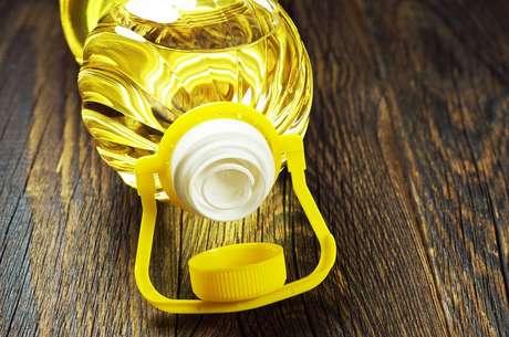 Garrafa de óleo de cozinha