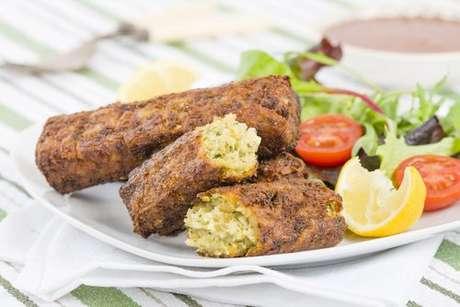 Produtos vegetarianos: linguiça vegetariana