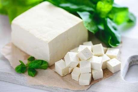 Produtos vegetarianos: queijo de tofu