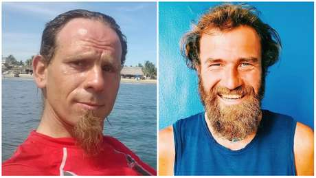 O polonês Krzysztof Chmielewski (esq.) e o alemão Holger Hagenbusch há anos viajavam o mundo pedalando