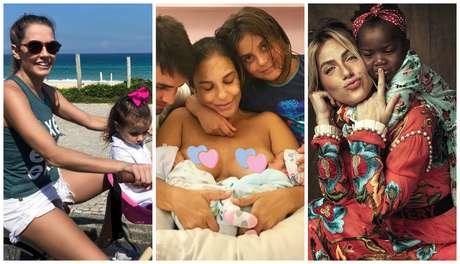 Deborah Secco, Ivete Sangalo e Giovanna Ewbank: feliz Dia das Mães (Fotos: Reprodução/Instagram)