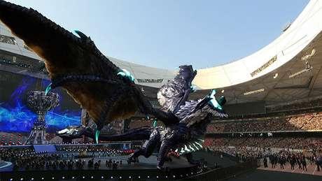 Abertura das finais do Mundial de  League of Legends em 2017