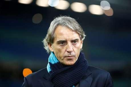 Técnico Roberto Mancini durante partida do Zenit contra o RB Leipizig 08/03/2018 REUTERS/Fabrizio Bensch