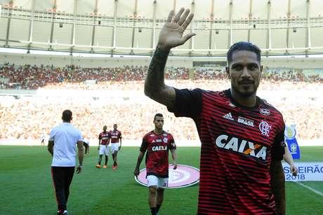 Paolo Guerrero, atacante do Flamengo e da seleção do Peru
