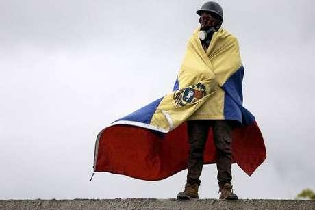 Protesto contra governo de Nicolás Maduro na Venezuela