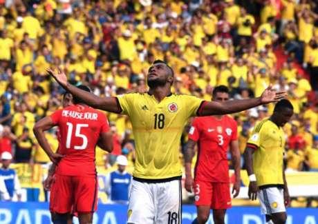 Borja tem chance de disputar a Copa do Mundo com a Colômbia - FOTO:Luis Acosta / AFP