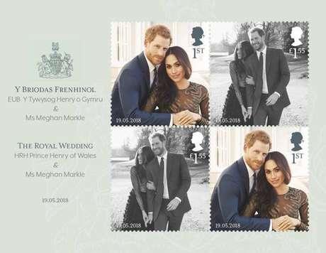 Novos selos são dedicados ao casamento de Harry e Meghan