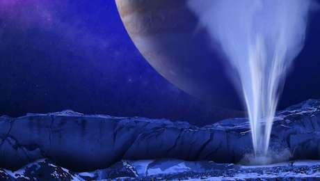 É assim que a NASA imagina que sejam os gêiseres de Europa