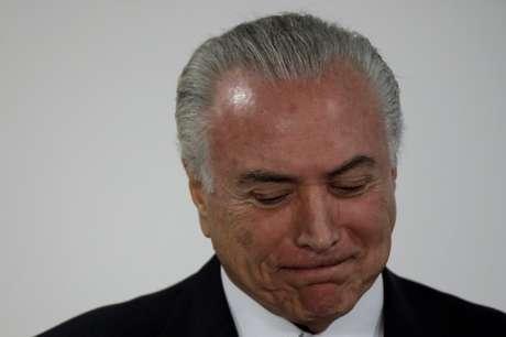 Presidente Michel Temer em Brasília 27/03/2018 REUTERS/Ueslei Marcelino