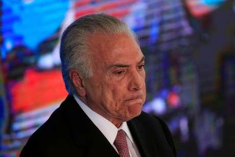 Presidente Michel Temer durante cerimônia em Brasília 15/05/2018 REUTERS/Ueslei Marcelino