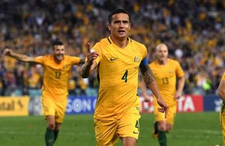 Cahill é o maior artilheiro da seleção australiana, com 50 gols (Foto: AFP/WILLIAM WEST)