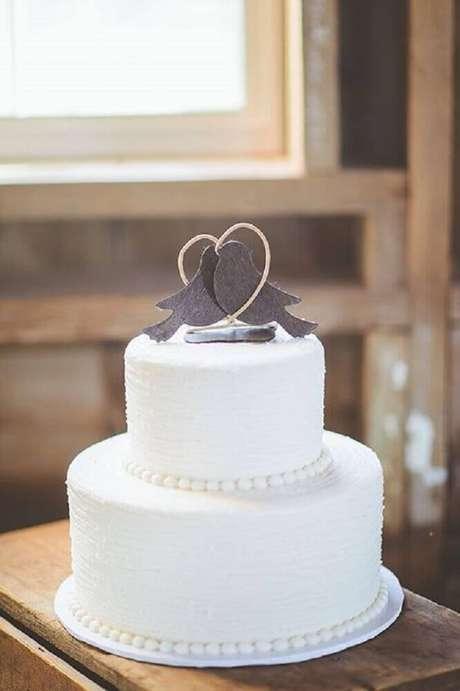 8. Modelo simples de topo de bolo de casamento 2 andares