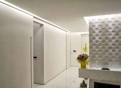 37. As paredes de gesso com textura são lindas