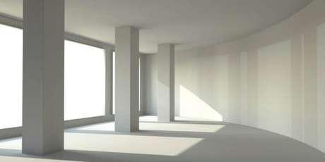 8. Também é possível construir paredes de gesso curvas