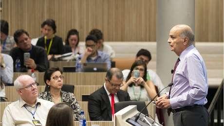 """Dráuzio Varella: """"Gravidez é um processo feminino. Puramente feminino. O nosso papel como homens é irrevelante"""" (Crédito: Cynthia Vanzella/Divulgação Brazil Forum UK)"""