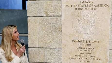 Ivanka Trump participou da cerimônia de abertura da Embaixada dos EUA em Jerusalém que, provisoriamente, vai funcionar no prédio do consulado americano na cidade
