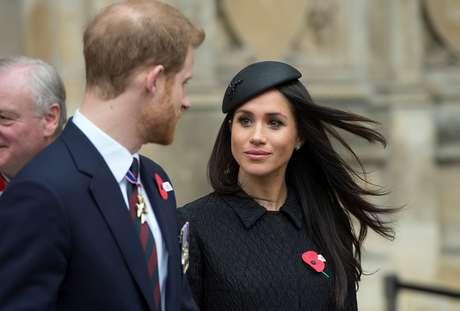 Príncipe Harry e a noiva Meghan Markle em Londres  25/4/2018    Eddie Mulholland/Divulgação