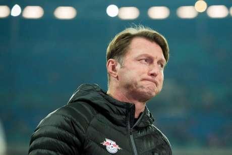 Hasenhüttl já era o treinador do RB Leipzig em 2016/17, quando o time ficou em segundo (Foto: Jens Schluter / AFP)
