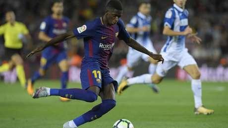 Pouco aproveitado pelo Barça, Dembele pode se transferir novamente para a Alemanha (AFP)