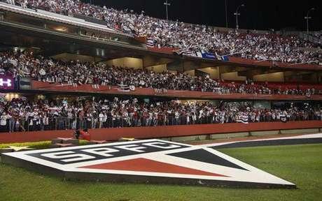 Estádio deve ter nova iluminação em breve, dentro dos planos da diretoria (Foto: Rubens Chiri/São Paulo)