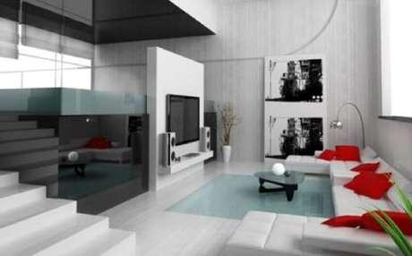 52. Decoração minimalista para casas grandes