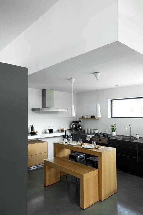 45. Decoração de cozinha com estilo minimalista
