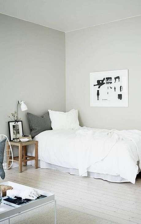 2. Decoração de quarto minimalista de solteiro