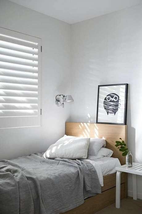 15. Decoração para quarto minimalista de solteiro