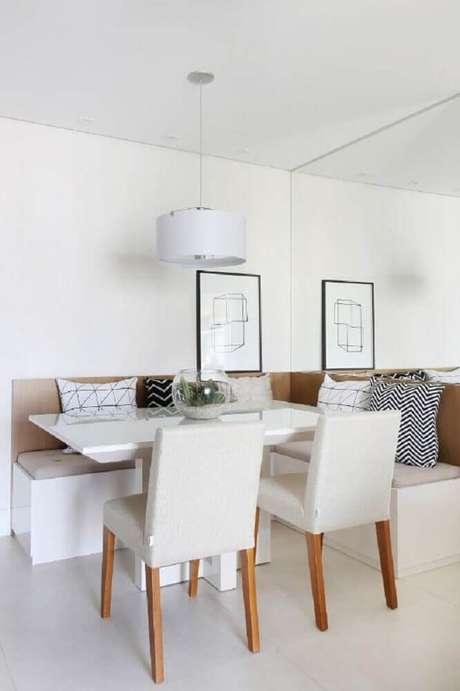 39. Decoração de sala de jantar com estilo minimalista