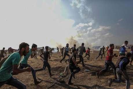 Confrontos na Faixa de Gaza, na última terça-feira (15)