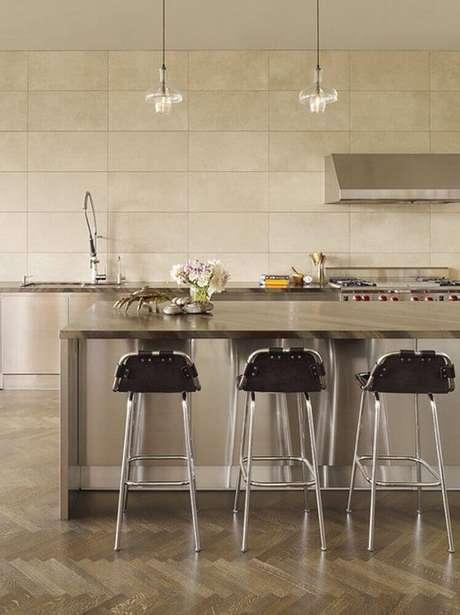 53. Minimalismo para decoração de cozinha