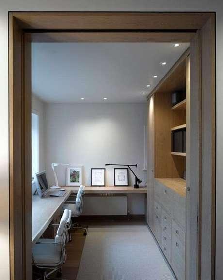 41. Minimalismo para decoração de home office