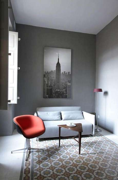 43. Minimalismo para decoração de sala pequena