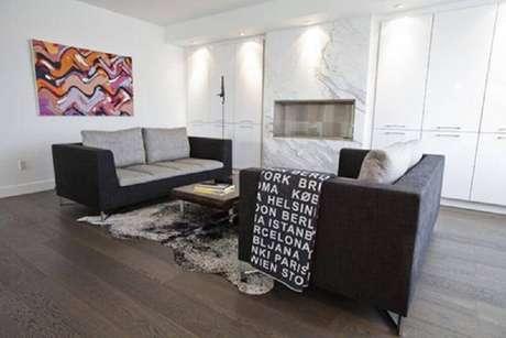 54. Minimalismo para decoração de sala de estar