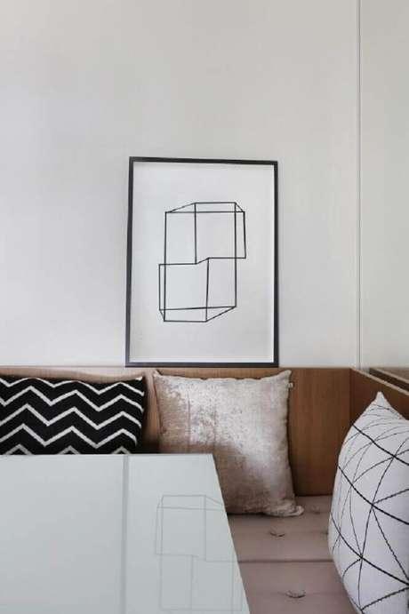 56. Modelo de quadros minimalistas preto e branco
