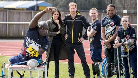 O príncipe criou uma competição esportiva paralímpica, os Jogos Invictus, para ex-militares mutilados
