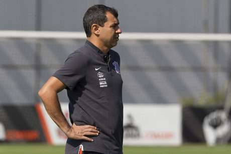 Técnico Fábio Carille, do Corinthians (Foto: Daniel Augusto Jr)