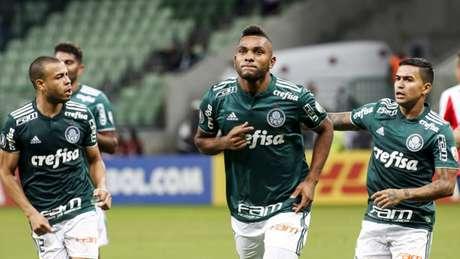 Com três de Borja, Palmeiras garante melhor campanha da Liberta (Foto: RODRIGO GAZZANEL/RM SPORTS IMAGE)