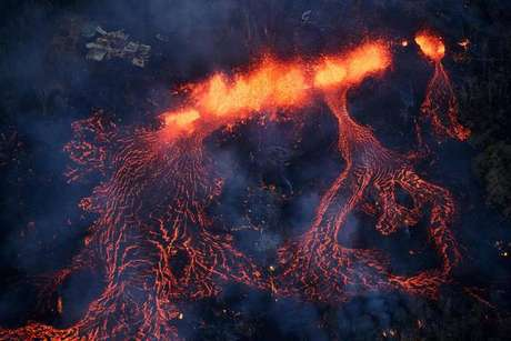 Erupção no vulcão Kilauea