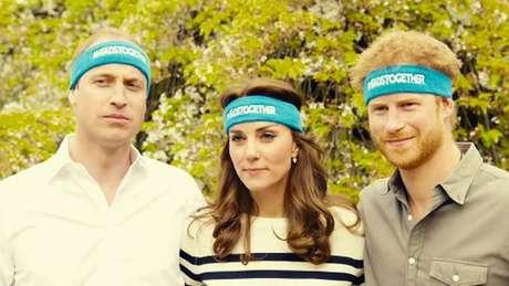 Harry, o irmão, William, e a cunhada Kate Middleton apoiam uma campanha que promove a saúde mental