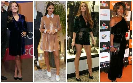 Bruna Marquezine e outras famosas apostam no veludo (Fotos: AgNews)