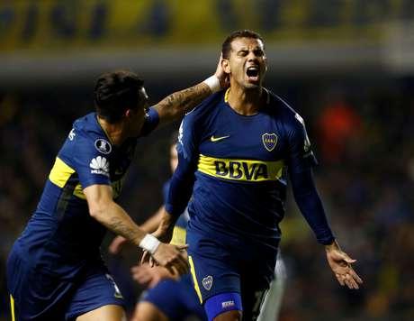 Ramon Dario Abila comemora gol do Boca contra o Alianza Lima