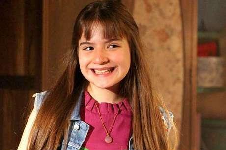 Sophia Valverde, atriz que interpreta a protagonista de 'As Aventuras de Poliana': a estreia empolgou o telespectadores mirins