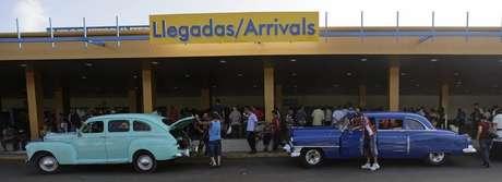 Exterior do aeroporto José Martí, em Havana