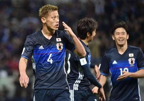 Honda estava fora dos planos do antigo treinador do Japão, Vahid Halilhodzic (Foto: Jiji Press / AFP)