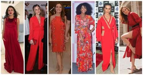 Damas de vermelho (Fotos: Agnews/Instagram/Reprodução)
